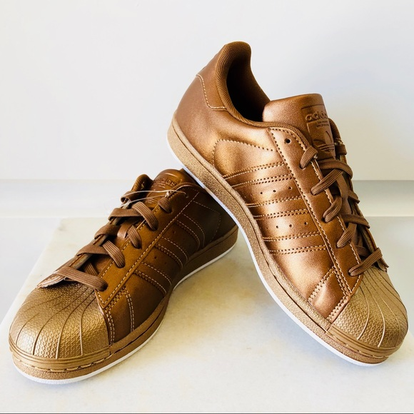 super popular 907c1 485a8 New! Adidas Superstar Shell Toe Copper Bronze